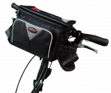 Lenkertasche Maxi 8L schwarz / grau